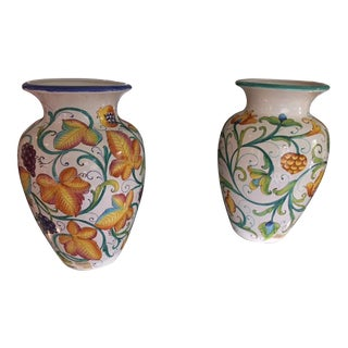 Colorful Italian Urns - A Pair