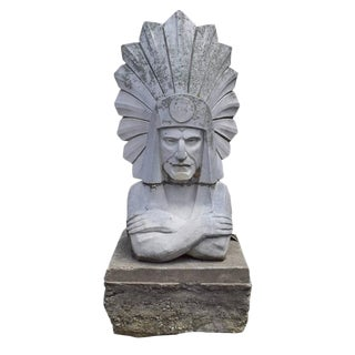 Monumental Terra Cotta Native American Bust from the Chicago Merchandise Mart
