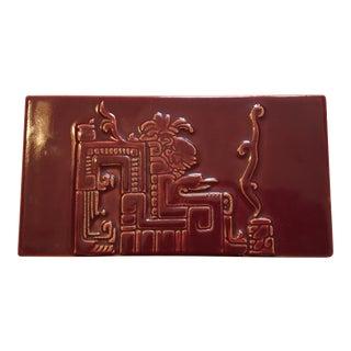 Rare Romany Tile Vintage Trinket Box