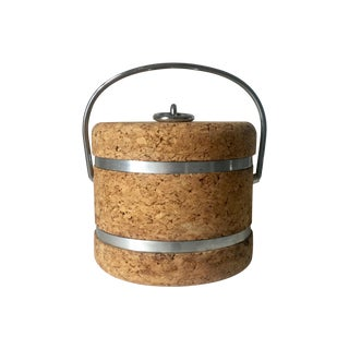 Cork & Aluminum Ice Bucket