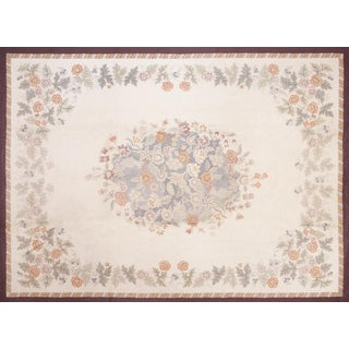 Vintage American Hand Knotted Rug - 8′9″ × 11′9″