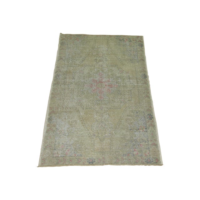 Shabby Chic Turkish Rug - 4'4'' X 7'1'' - Image 1 of 6