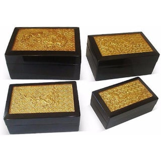 Golden Dragon Nesting Boxes - Set of 4