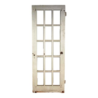 Vintage Salvaged 15 Lite White French Door