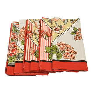 Vintage Floral Napkins - Set of 6
