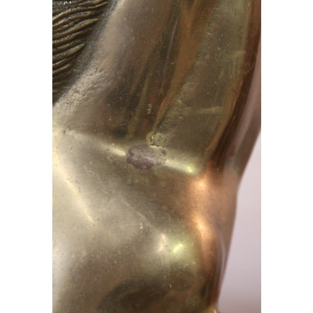 Large Neoclassical Brass Horse Statue - Image 5 of 8