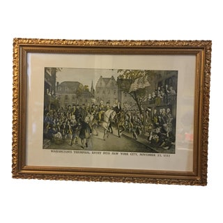 Washington Triumphal 1783 New York City Entry Print