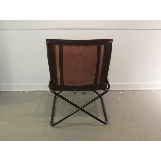 Vintage MCM Uchida Leather Sling Chair - Image 7 of 11