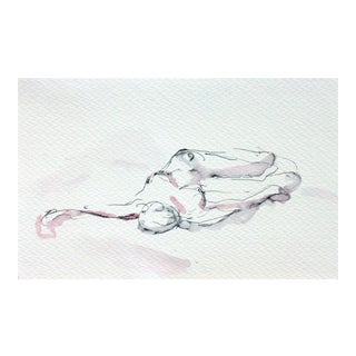 Pink & Grey Reclining Figure Drawing