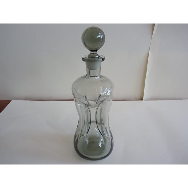 Image of Mid-Century Smoked Glass Decanter