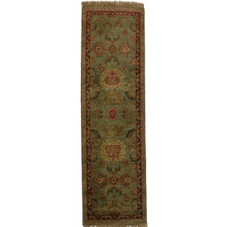 RugsinDallas Antique Look Persian Style Hand Knotted Runner - 3′ × 10′2″