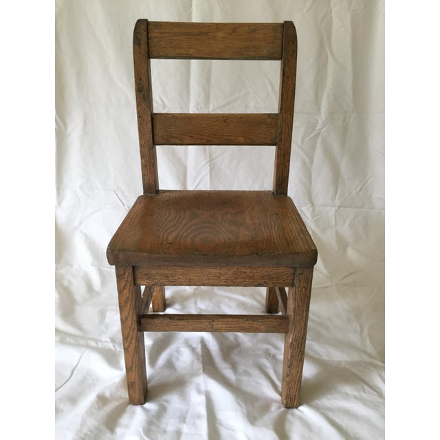 Oak Child's Desk Chair - Image 2 of 4