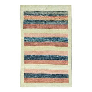 Contemporary Hand Woven Rug - 3′9″ × 5′9″