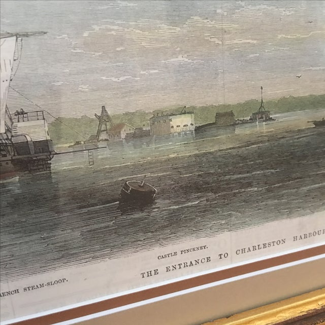 Framed Ships in Charleston Harbor Print - Image 4 of 10