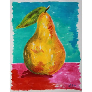 Pear Abstract Still Life by Cleao