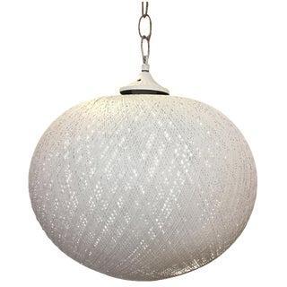 White Fiberglass Globe Pendant Chandelier