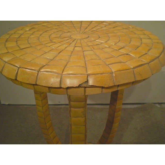 Vintage Tile Side Table - Image 4 of 5