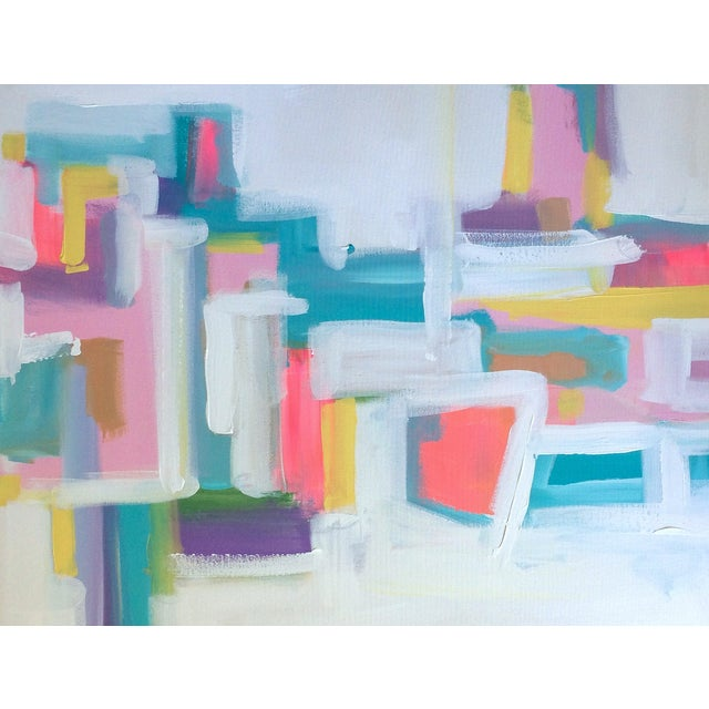 'Pow Wow' Original Abstract Painting - Image 6 of 7