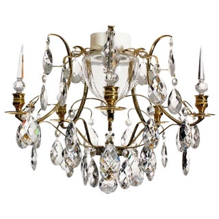 Baroque Brass Almond Obelisk Bathroom Chandelier