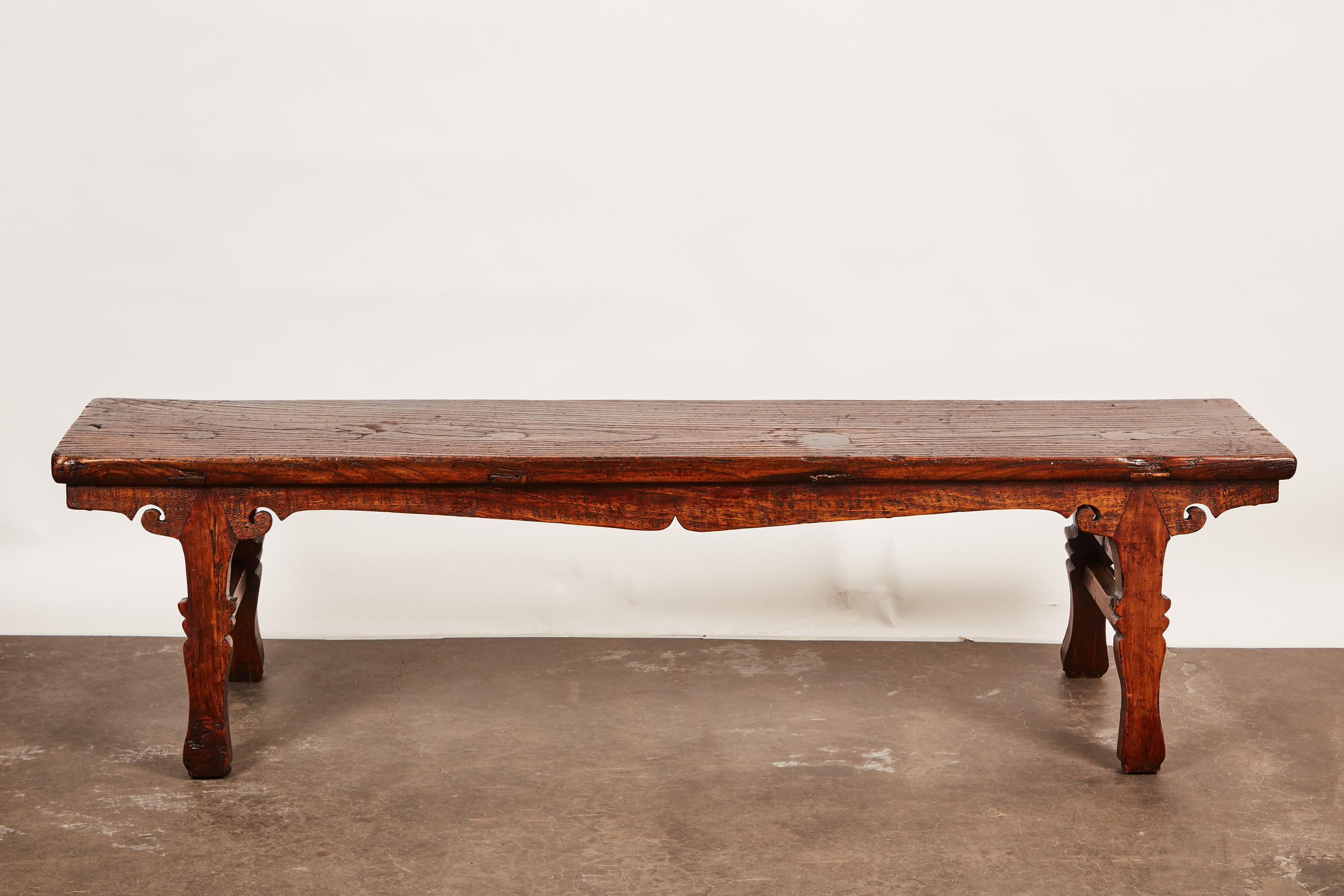 18th Century Chinese Low Sword Leg Bench/Table   Image 3 Of 8