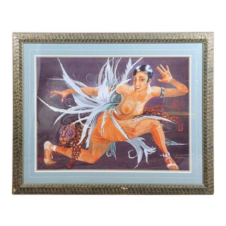 "Josephine Baker ""Fabulous""Limited Edition 12/25 AP ArtDeco Lithograph by Mark"