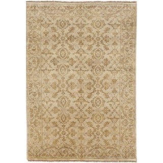 """Hand-Knotted Indian Rug - 4'1""""x 5'10"""""""