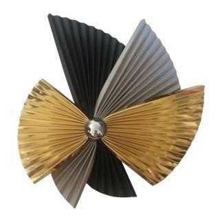 Curtis Jere Metal Fan Pinwheel Wall Sculpture