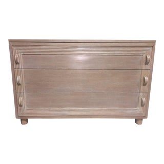 1940's Cerused Finish 3-Drawer Oak Chest