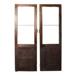 Antique Cabinet Doors C.1900 - A Pair
