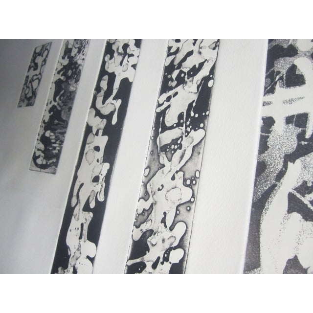 Abstract Lithograph in Black Frame - Image 2 of 5