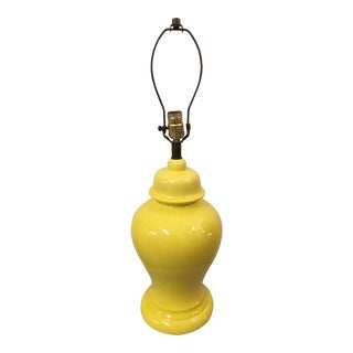 Canary Yellow Porcelain Ginger Jar Lamp