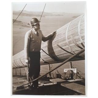 Vintage Photo Golden Gate Bridge Construction