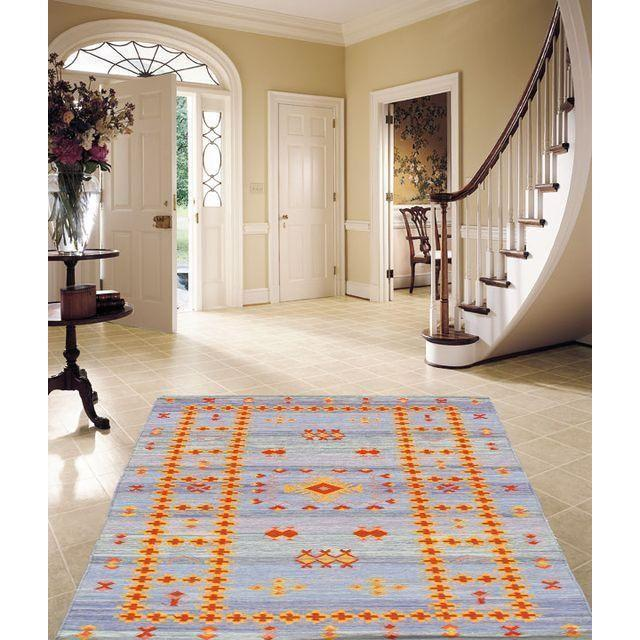 Moroccan Style Flat Weave Rug - 6' X 9'