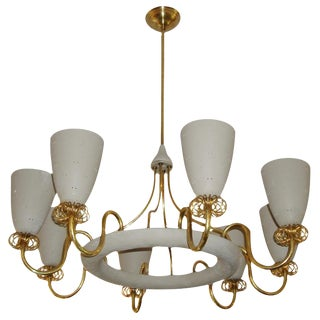 Glamorous 8-Light Chandelier by Lightolier, Paavo Tynell