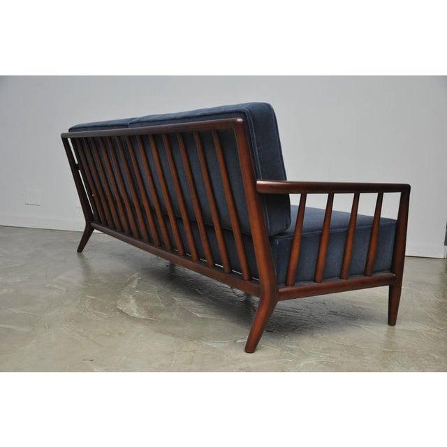 T.H. Robsjohn-Gibbings Open-Arm Sofa in Deep Blue Mohair - Image 6 of 6