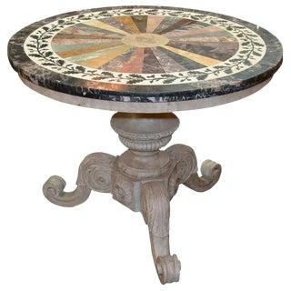 Italian Specimen Marble Center Table