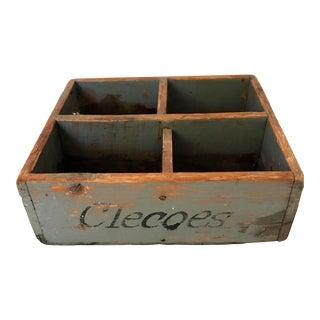 Open Wooden Storage Box