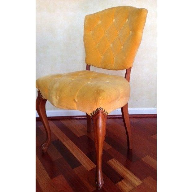 Vintage Slipper Chair in Yellow Velvet - Image 3 of 4