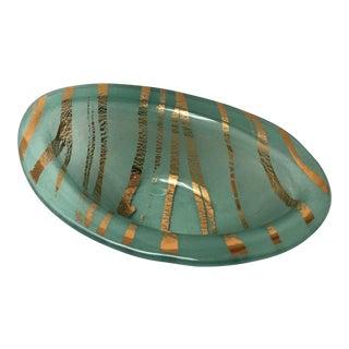 Art Glass Handblown Studio Bowl Oval