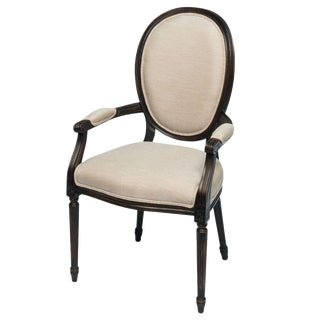 Sarreid LTD Black & Cream Louis XVI Armchair