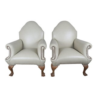 English Chippendale Style Armchairs - A Pair