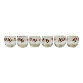 Fab Set of (6) Foxhead & Crop Roly Poly Glasses -