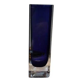 Art Glass Cobalt Blue Vase