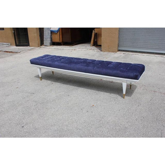 1940s French Art Deco White Lacquered Bench - Image 2 of 10