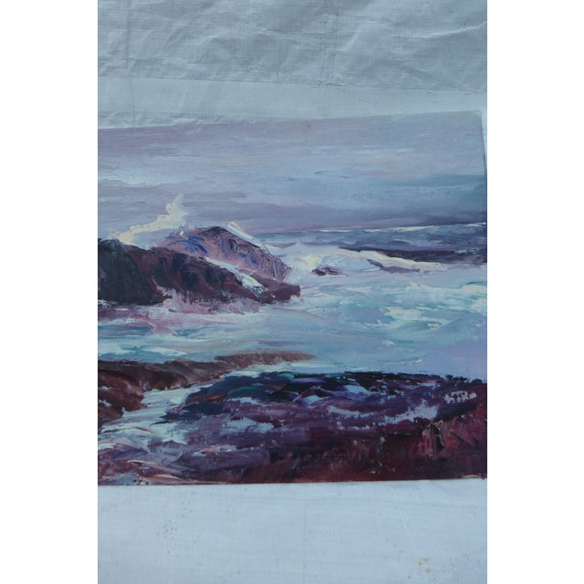H.L. Musgrave Oil Painting, Turbulent Ocean Scene - Image 5 of 8