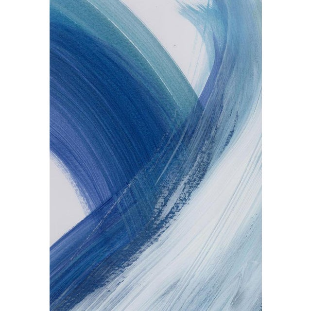 """Original """"Enjoy the Ride"""" Modern Abstract Minimalist Matted Acrylic Painting - Image 2 of 4"""