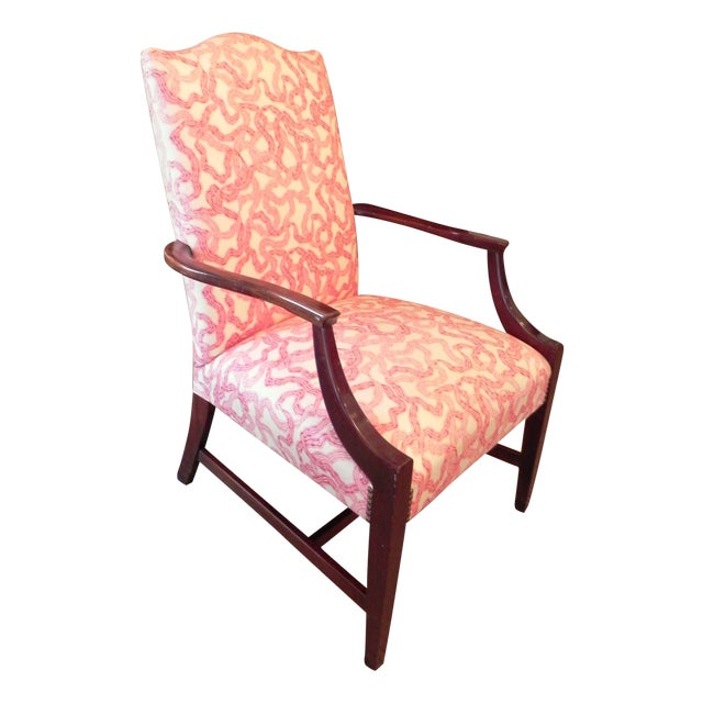 Rose Cummings Ribbon Chintz Upholstered Armchair - Image 1 of 8