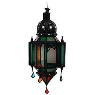 Moroccan Amber & Green Lantern