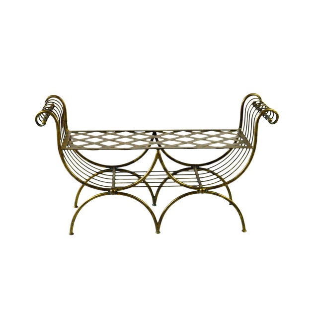 Hollywood Regency Italian Metal Bench, 1960's - Image 1 of 7