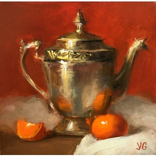 Still Life with Metal Pitcher and Tangerine